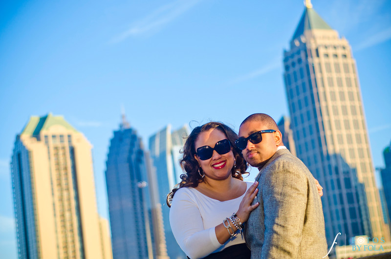 50. Alexandra + Michael Engagement Session | Piedmont Park + Atlantic Station | Fotos by Fola | Atlanta Wedding Photographers