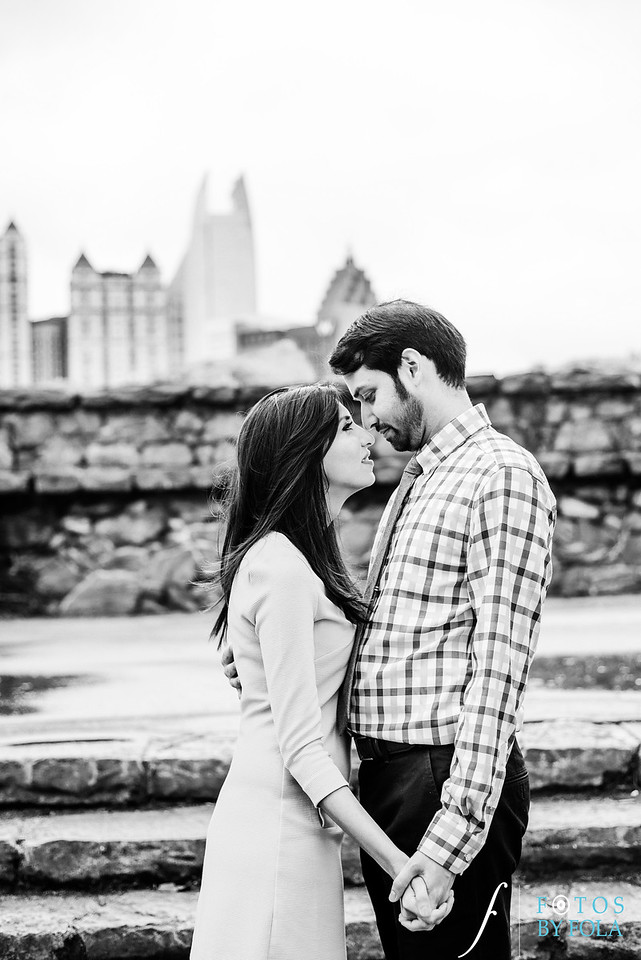 Anita + Anand Engaged! Love and Coffee | Piedmont Park  | Atlanta Wedding Photographers | Fotos by Fola