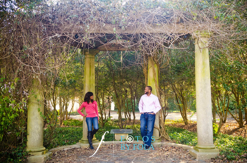 1. Juliet and Bankole Engagement Session | Cator Woolford Gardens | Dekalb County Court House | Fotos by Fola