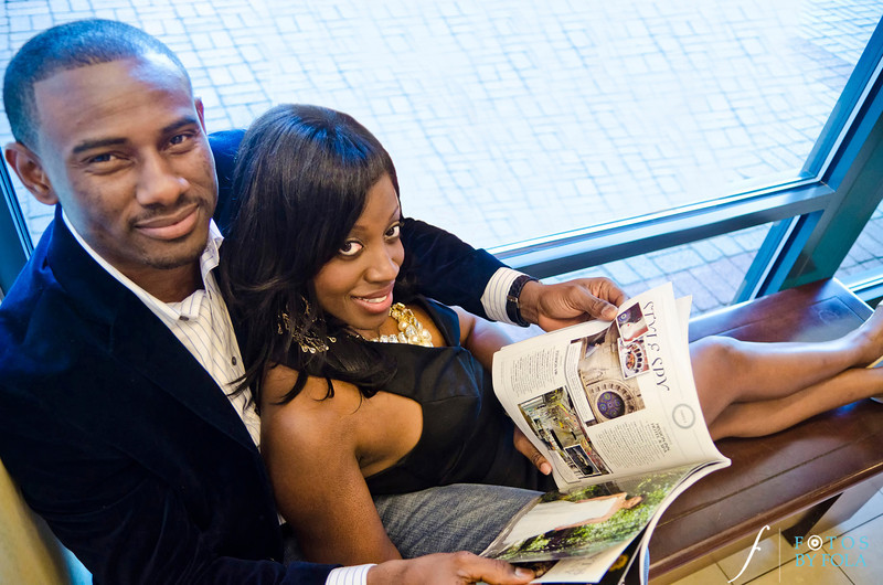 30. Nneka + Obinna E-Session | Barnes & Noble | Macon | Fotos by Fola | Atlanta Wedding Photographers