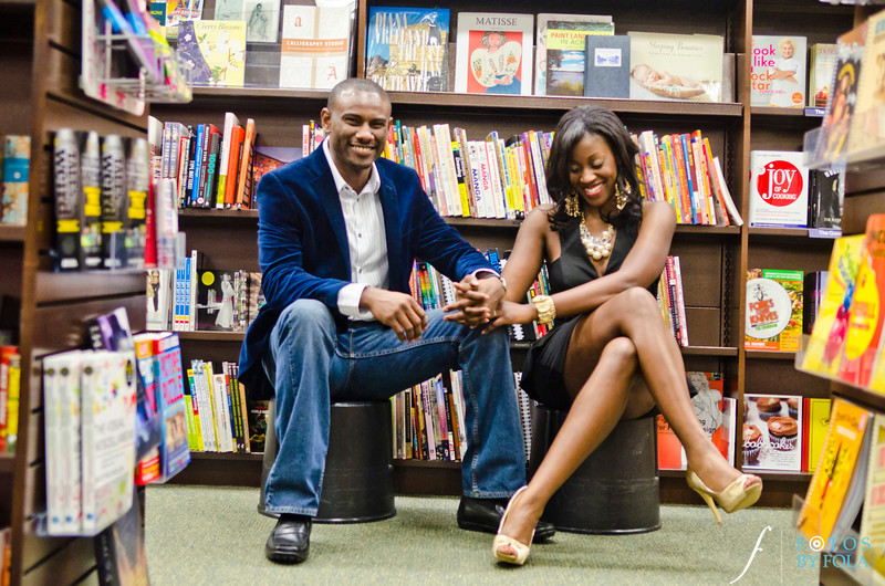 10. Nneka + Obinna E-Session | Barnes & Noble | Macon | Fotos by Fola | Atlanta Wedding Photographers