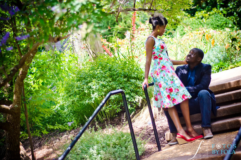 10. Olamide + Dotun E-Session | Atlanta Botanical Garden | Virginia Highland | Atlanta Wedding Photographers | Fotos by Fola