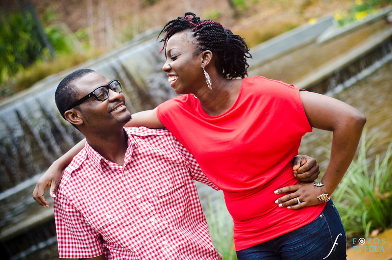 6. Rain or Shine! Ronke & Wole E-session | Atlanta Botanical Garden | Loews Hotel Atlanta | Fotos by Fola | Atlanta Wedding Photographers