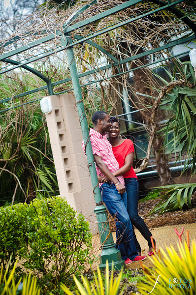 20. Rain or Shine! Ronke & Wole E-session | Atlanta Botanical Garden | Loews Hotel Atlanta | Fotos by Fola | Atlanta Wedding Photographers