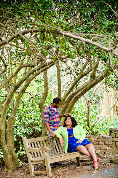 15. Shawnell and Will Engagement Session | Cator Wolford Gardens | Midtown Atlanta | Fotos by Fola | Atlanta Wedding Photographers