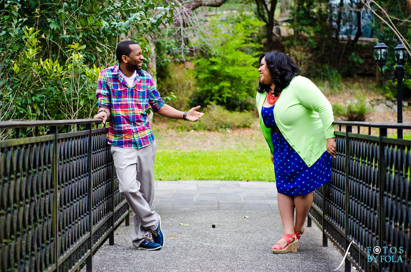 5. Shawnell and Will Engagement Session | Cator Wolford Gardens | Midtown Atlanta | Fotos by Fola | Atlanta Wedding Photographers