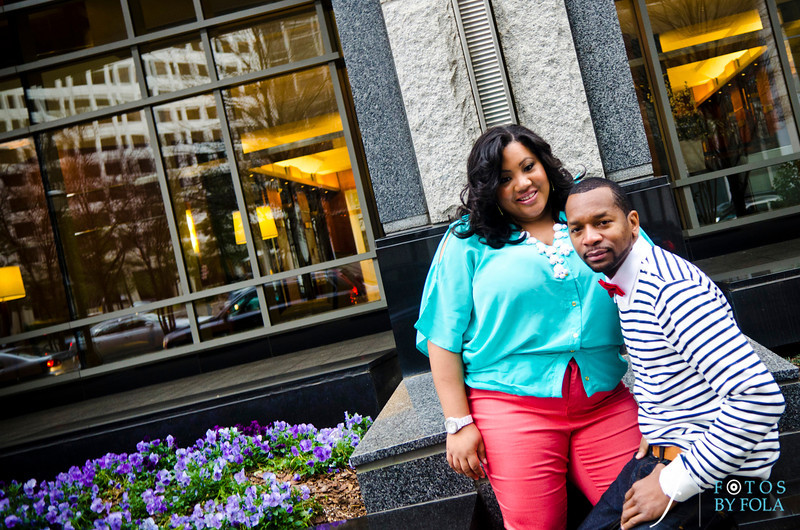 40. Shawnell and Will Engagement Session | Cator Wolford Gardens | Midtown Atlanta | Fotos by Fola | Atlanta Wedding Photographers