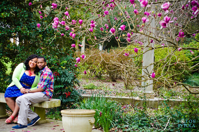 10. Shawnell and Will Engagement Session | Cator Wolford Gardens | Midtown Atlanta | Fotos by Fola | Atlanta Wedding Photographers