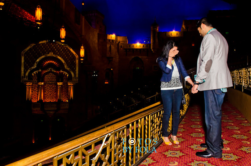 20. Anand + Freny Surprise Proposal | Fox Theatre | Atlanta Wedding Photographer | Fotos by Fola
