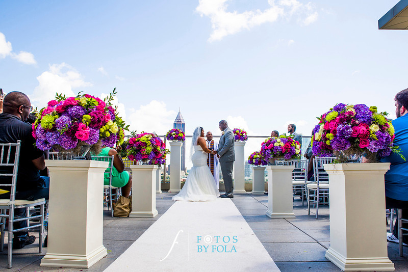 40. Linnea + Vincent Rooftop Wedding | Ventanas | Atlanta Wedding Photographers | Fotos by Fola