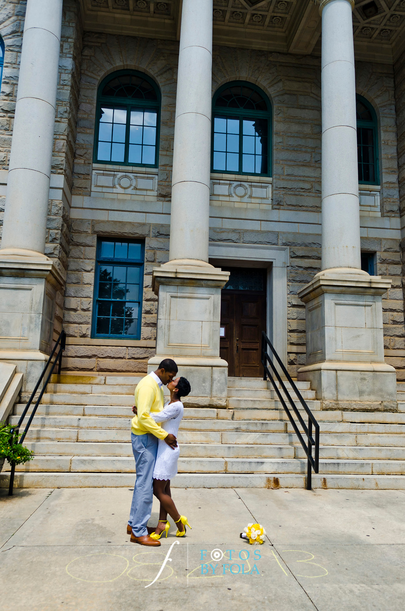 60. Teryn and Corey Yellow Wedding | Dekalb County Court House | Atlanta Wedding Photograhers | Fotos by Fola