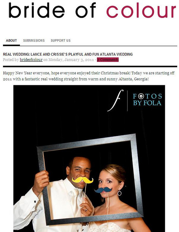 FBF Wedding featured on Bride of Colour