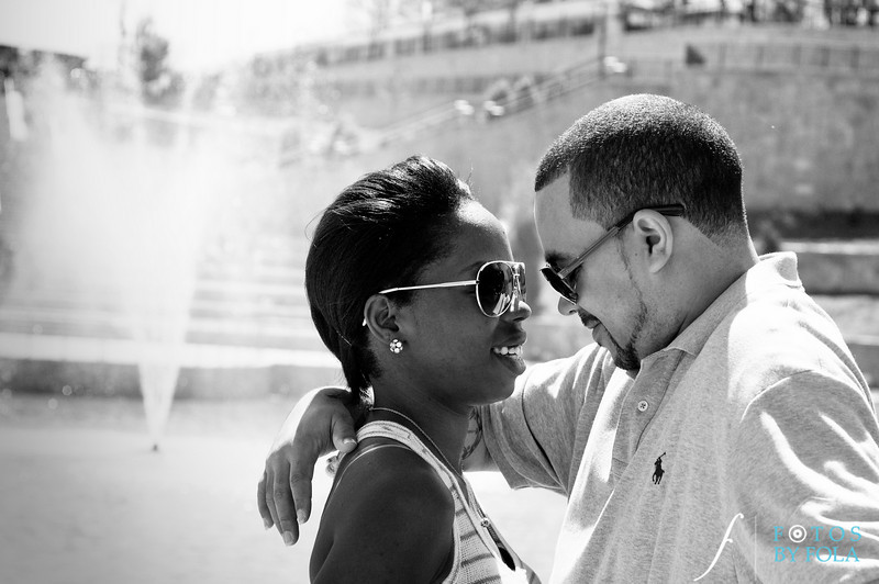 2. Cherdon & Greg Engagement Session | Historic Fourth Ward Park Atlanta | Atlanta Wedding Photographer | Fotos by Fola