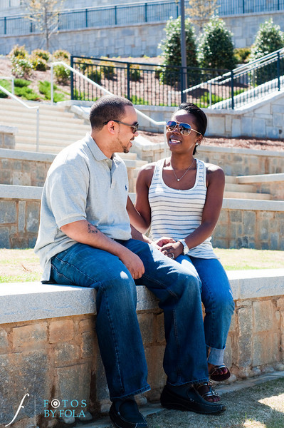 3. Cherdon & Greg Engagement Session | Historic Fourth Ward Park Atlanta | Atlanta Wedding Photographer | Fotos by Fola