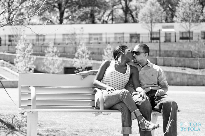 10. Cherdon & Greg Engagement Session | Historic Fourth Ward Park Atlanta | Atlanta Wedding Photographer | Fotos by Fola