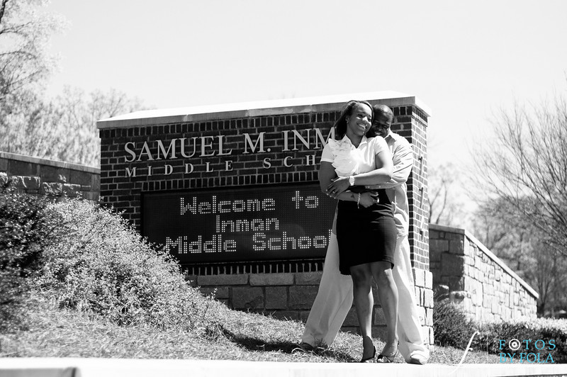 2. Salethia & James Engagement Session | Piedmont Park | Inman Middle School Atlanta | Atlanta Wedding Photographer | Fotos by Fola
