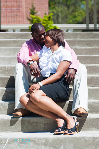 19. Salethia & James Engagement Session | Piedmont Park | Inman Middle School Atlanta | Atlanta Wedding Photographer | Fotos by Fola
