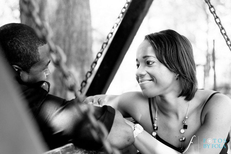 33. Salethia & James Engagement Session | Piedmont Park | Inman Middle School Atlanta | Atlanta Wedding Photographer | Fotos by Fola