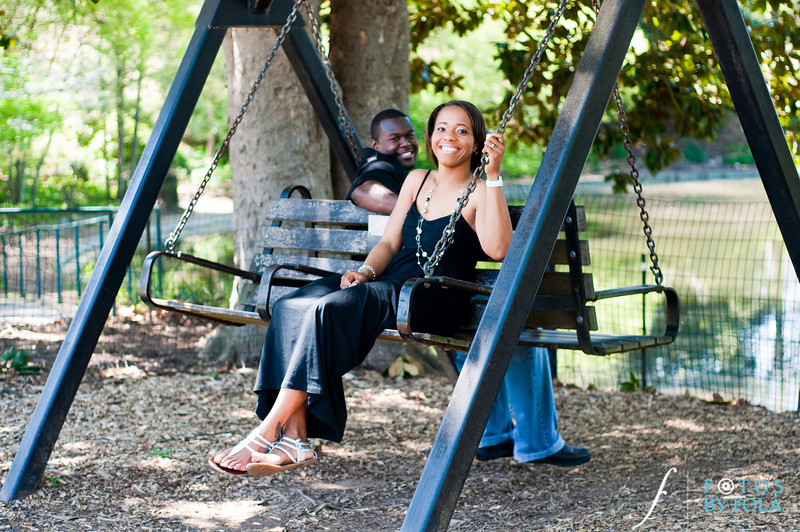32. Salethia & James Engagement Session | Piedmont Park | Inman Middle School Atlanta | Atlanta Wedding Photographer | Fotos by Fola