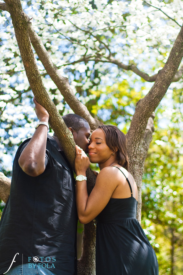 37. Salethia & James Engagement Session | Piedmont Park | Inman Middle School Atlanta | Atlanta Wedding Photographer | Fotos by Fola