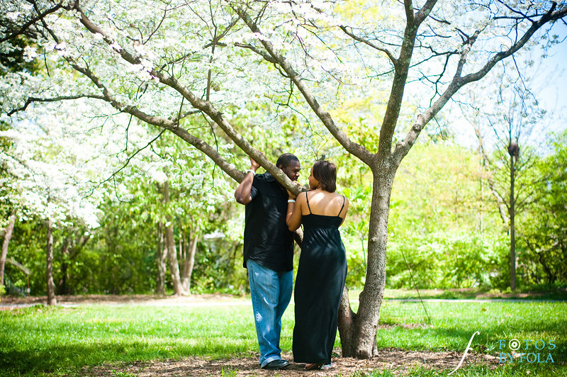 36. Salethia & James Engagement Session | Piedmont Park | Inman Middle School Atlanta | Atlanta Wedding Photographer | Fotos by Fola