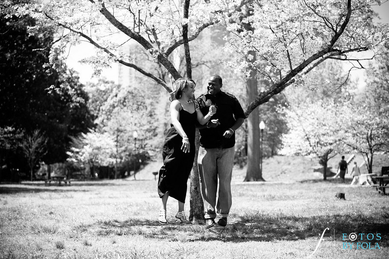 38. Salethia & James Engagement Session | Piedmont Park | Inman Middle School Atlanta | Atlanta Wedding Photographer | Fotos by Fola