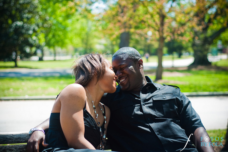 27. Salethia & James Engagement Session | Piedmont Park | Inman Middle School Atlanta | Atlanta Wedding Photographer | Fotos by Fola