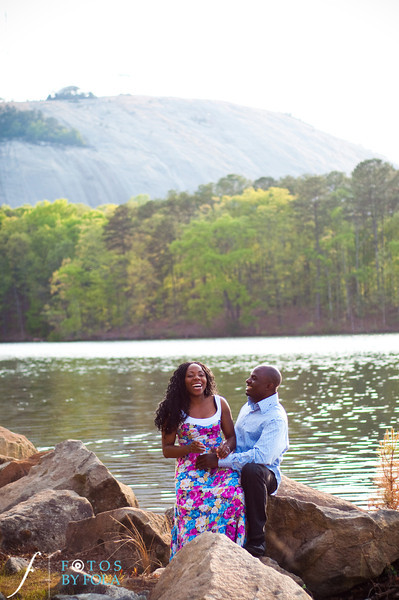 1. Titi & Remi Engagement Session | Stone Mountain Park | Fotos by Fola | Atlanta Wedding Photographer