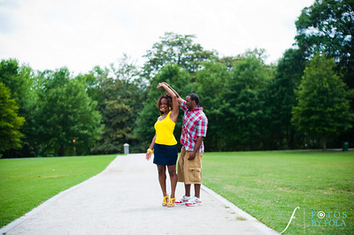 21. Raymond's Surprise Proposal | Piedmont Park Atlanta | Atlanta Wedding Photographer | Fotos by Fola