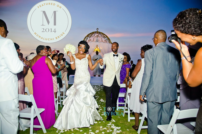 Tanika + James Jamaica Destination Wedding Featured on Munaluchi Bride