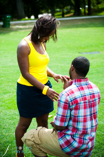 27. Raymond's Surprise Proposal | Piedmont Park Atlanta | Atlanta Wedding Photographer | Fotos by Fola