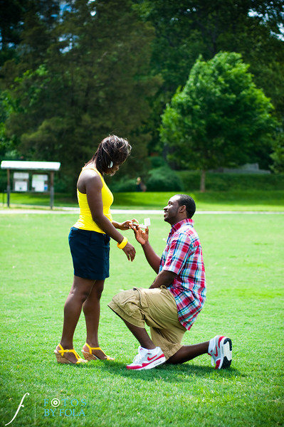 26. Raymond's Surprise Proposal | Piedmont Park Atlanta | Atlanta Wedding Photographer | Fotos by Fola