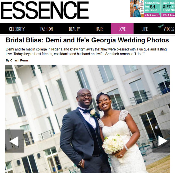 Demi and Ife Wedding Featured on Essence | Fotos by Fola | Atlanta Wedding Photographers