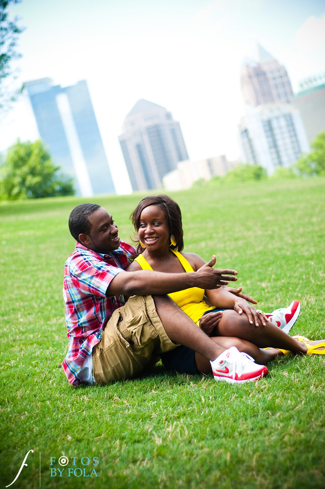 1. Raymond's Surprise Proposal | Piedmont Park Atlanta | Atlanta Wedding Photographer | Fotos by Fola