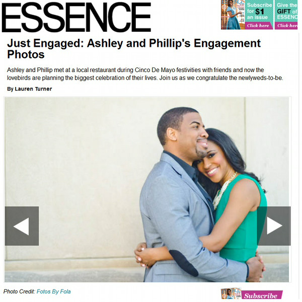 Ashley + Phillip on Engagement Session Essence  | Fotos by Fola | Atlanta Wedding Photographer