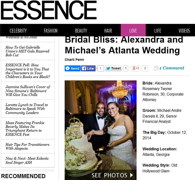 Alexandra and Michael Featured on Essence | Fotos by Fola | Atlanta Wedding Photographers