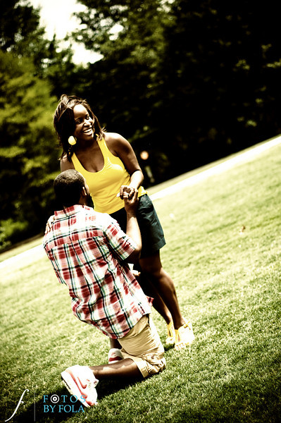 28. Raymond's Surprise Proposal | Piedmont Park Atlanta | Atlanta Wedding Photographer | Fotos by Fola