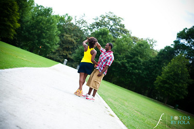 22. Raymond's Surprise Proposal | Piedmont Park Atlanta | Atlanta Wedding Photographer | Fotos by Fola