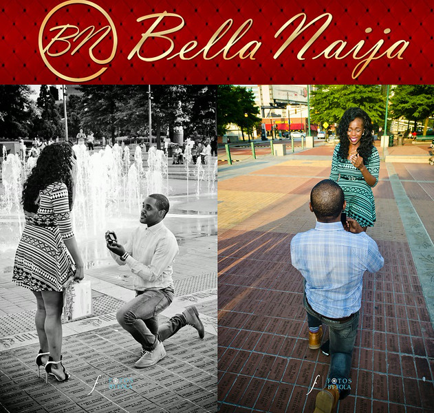 Samuel + Bukky Surprise Proposal on Bella Naija
