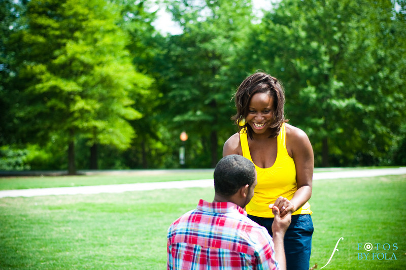 29. Raymond's Surprise Proposal | Piedmont Park Atlanta | Atlanta Wedding Photographer | Fotos by Fola