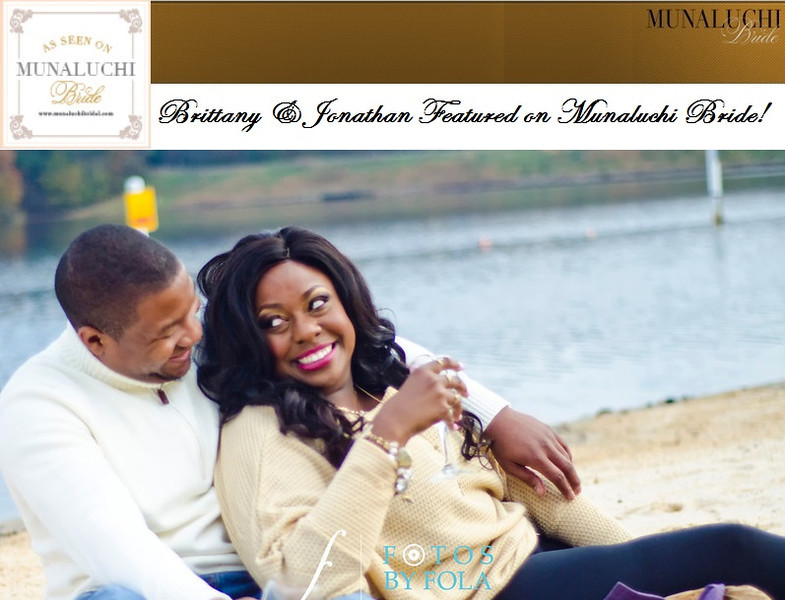 Brittany + Jonathan featured on Munaluchi Bride