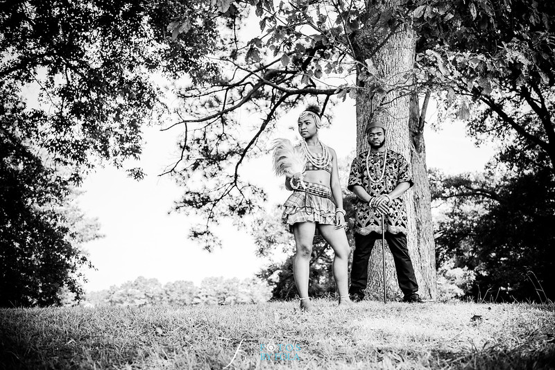 Abimbola + Mike Middle School love - Cultural Engagement Session | Atlanta Wedding Photographers | Fotos by Fola