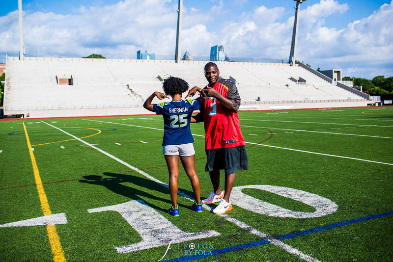 Quita + Jeremiah Football Engagement Session | Atlanta Wedding Photographers | Fotos by Fola