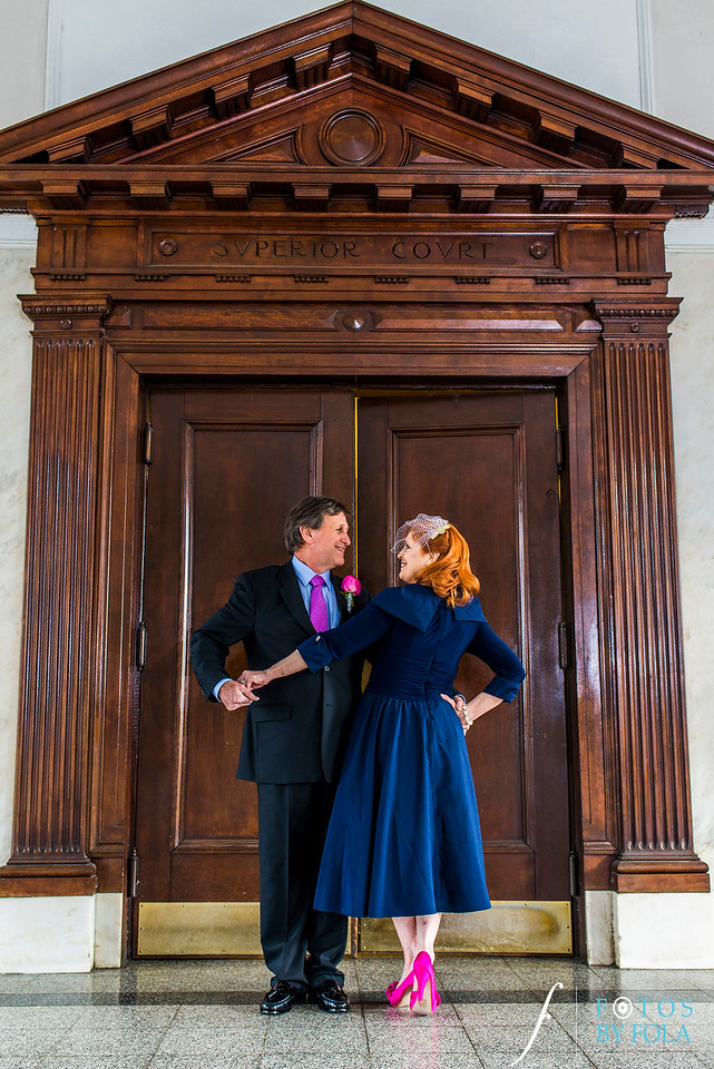 Peggi + John Intimate Courthouse Wedding | Fotos by Fola | Old Decatur Courthouse | Atlanta Wedding Photographers