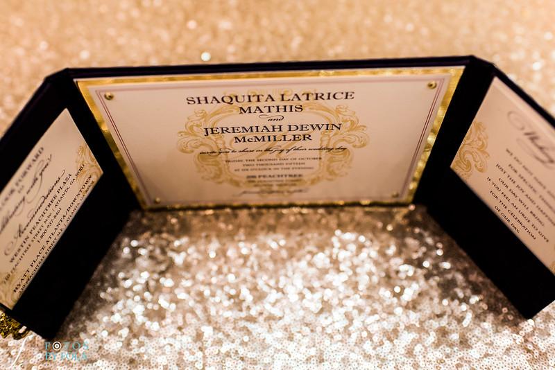 Quita + Jeremiah 200 Peachtree Wedding   Atlanta Wedding Photographers   Fotos by Fola   Marriott Grand Marquis