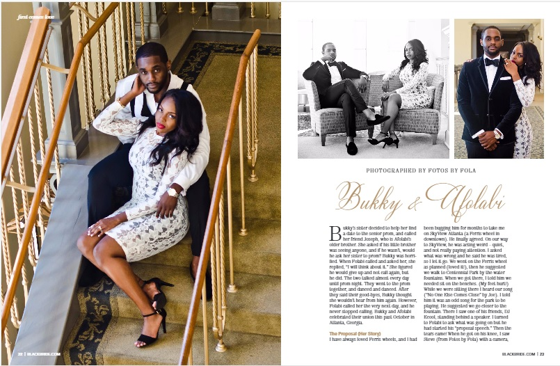 Fotos by Fola couple in the Latest issue of Black Bride Magazine Winter Issue
